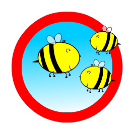 Logo with the rhyming bees