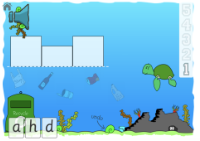 game image showing the first word to spell