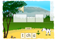 game image showing the first ch word