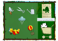 game image showing a trip to Garden World