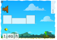 game image showing the first ea word to spell