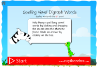 introduction screen of the spell vowel digraph ea words