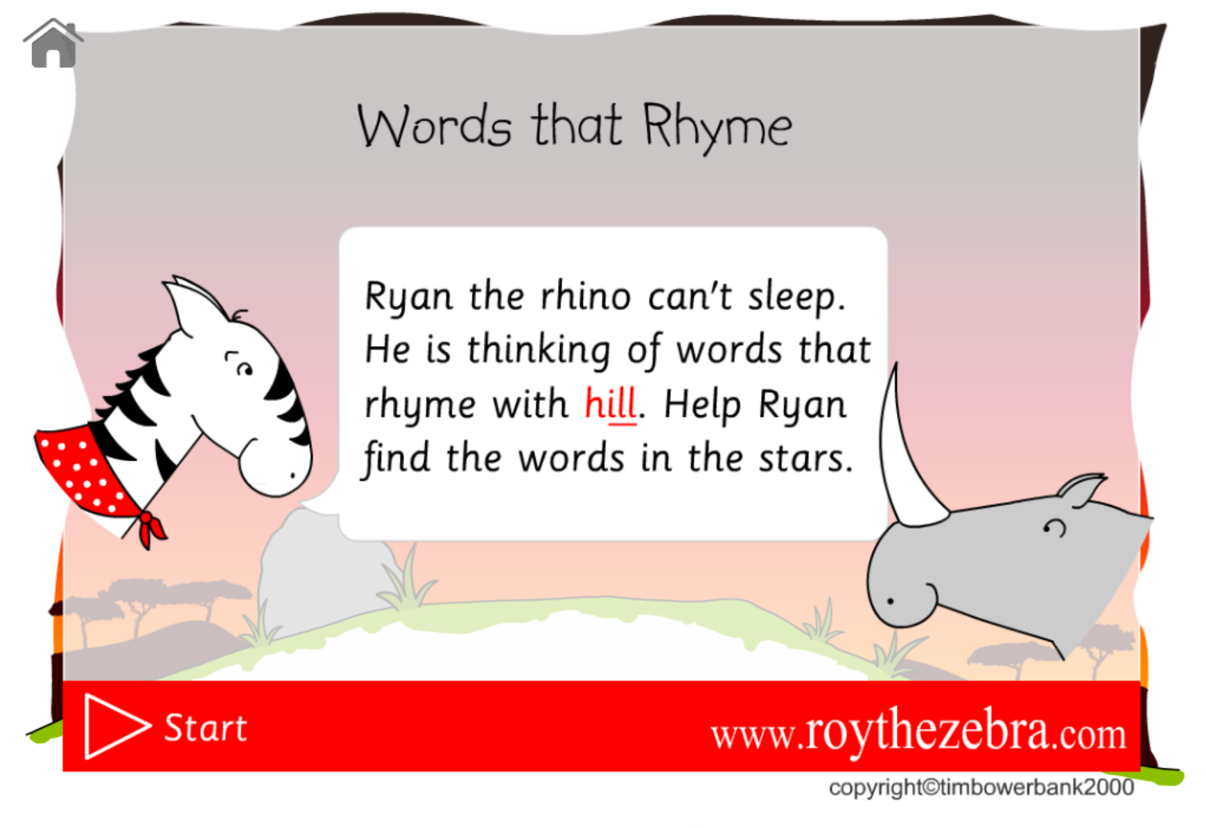 words that rhyme games